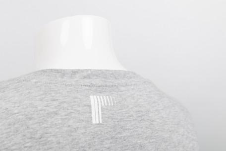 raster logo t-shirt grey - s