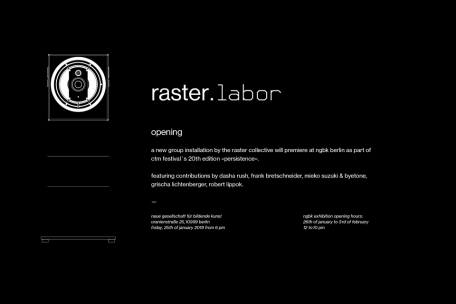 »raster. labor« opening